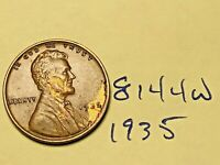 1935 1C BN LINCOLN CENT 8144W WHEAT CENT