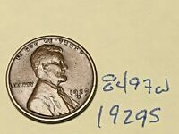 1929-S 1C BN LINCOLN CENT 8497W WHEAT CENT
