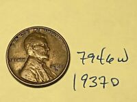 1937-D 1C BN LINCOLN CENT 7946W WHEAT CENT