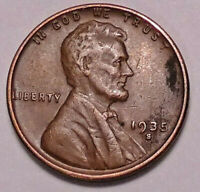 1935 S LINCOLN WHEAT CENT CENT -   > WHEATS<   - SHIPS FREE