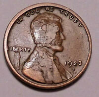 1923 S LINCOLN WHEAT CENT PENNY - >MAJOR ERROR OBVERSE< - PLEASE REVIEW PHOTOS