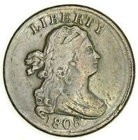 1808 DRAPED BUST HALF 1/2 CENT  EXQUISITE XF STUNNER SPECTACULAR EYE APPEAL