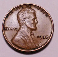 1937 P LINCOLN WHEAT CENT PENNY - ->> BETTER GRADE<< -  SHIPS FREE