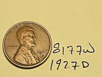 1927 D LINCOLN CENT WHEAT CENT BETTER MINT / DATE GREAT CONDITION 8177W VF