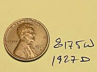 1927 D LINCOLN CENT WHEAT CENT BETTER MINT / DATE GREAT CONDITION 8175W VF