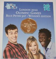 LONDON 2012 OLYMPIC 50P 2009 BLUE PETER WINNER'S EDITION IN