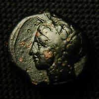 18 PUNIC SICILY PERSEPHONE RV HORSE GALLOPING 15 8MM 7.43 GRAMS 4TH CENT BC