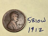 1912 1C BN LINCOLN CENT 5810W WHEAT CENT