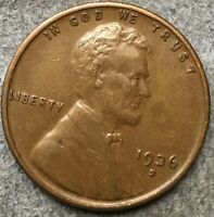1936 S LINCOLN WHEAT CENT PENNY - HIGH GRADE EXTRA FINE   FREE SHIP. R727