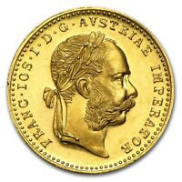 1915   .1107 OZ OF PURE  GOLD   AUSTRIAN  1 DUCAT  BU PROOF LIKE   $299.88   BUY