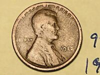 1912 1C BN LINCOLN CENT 9216W WHEAT CENT