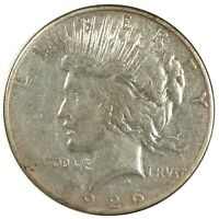 1926-S UNITED STATES SILVER PEACE DOLLAR - VG