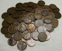 2 ROLLS OF 1911 P PHILADELPHIA LINCOLN WHEAT CENTS FROM PENN
