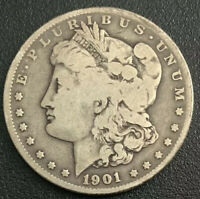 1901-S MORGAN SILVER DOLLAR TOUGH DATE LOW MINTAGE 2.3 MILLION MINTED