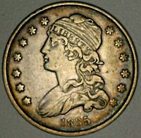 1835 CAPPED BUST QUARTER 25C   EXCELLENT CIRC'D EYE APPEAL