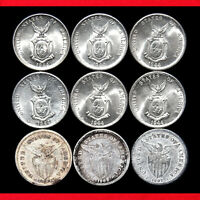 PHILIPPINES 20 CENTAVOS  9 SILVER COINS  .750 SILVER ISSUE