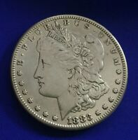 1883-S MORGAN SILVER DOLLAR BETTER DATE  CLEANED  [43]
