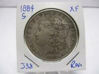 DATE 1884 S MORGAN DOLLAR  EEXTRA FINE  ESTATE COIN  J38