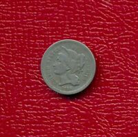 1866 3 CENT NICKEL LY CIRCULATED SHIPS FREE