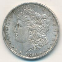 1880-O MORGAN SILVER DOLLAR-  LIGHTLY CIRCULATED DOLLAR-SHIPS FREE INV5