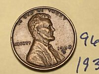 1938 D LINCOLN CENT 9609W 1C WHEAT CENT