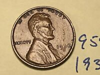 1938 D LINCOLN CENT 9584W 1C WHEAT CENT