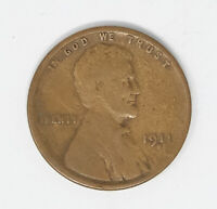 1911 S WHEAT CENT VG SEMI KEY DATE SEE PICTURES
