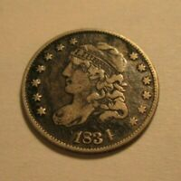 1834 CAPPED BUST 1/2 DIME 5 CENTS  JMP