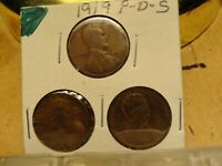 1919 PDS LINCOLN CENTS 2191, 2193