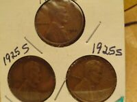 1925 PSS LINCOLN CENTS 2205