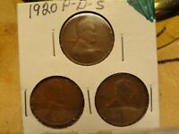 1920 PDS LINCOLN CENTS 2195, 2197