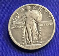 1923 STANDING LIBERTY SILVER QUARTER STRONG DETAIL  COLLECTOR COIN [161]