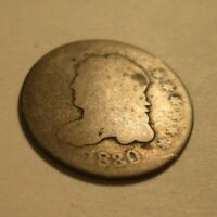 1830 CAPPED BUST 1/2 DIME  SILVER LOW GRADE  A50