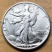 1928-S WALKING LIBERTY HALF DOLLAR  AU
