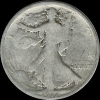 A 1917 P WALKING LIBERTY HALF DOLLAR 90 SILVER US MINT EXACT COIN SHOWN 581