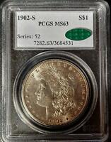 1902-S MORGAN DOLLAR - MINT STATE 63 - PCGS - CAC CERTIFIED - 4531