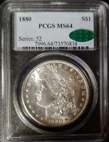 1880 MORGAN DOLLAR - MINT STATE 64 - PCGS - CAC CERTIFIED - 0838