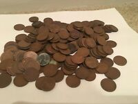 LOT OF 260 WHEAT 1C PENNIES 1930S 1940S 1950S