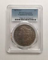 1879 CC MORGAN SILVER DOLLAR PCGS GENUINE EXTRA FINE  DETAILS CLEANED