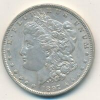 1897-O MORGAN SILVER DOLLAR- GENTLY CIRCULATED DOLLAR-SHIPS FREE INV:2