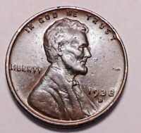 1938 D LINCOLN WHEAT CENT PENNY - NOT STOCK PHOTOS -  SHIPS FREE