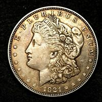 1921 D EXTRA FINE  EXTRA FINE SILVER MORGAN DOLLAR  US OLD COIN L96