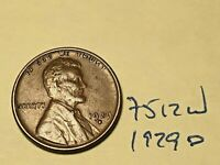 1929 D LINCOLN CENT 7512W WHEAT CENT VF