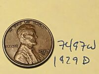 1929 D LINCOLN CENT   PREMIUM COLLECTION 7497W WHEAT CENT