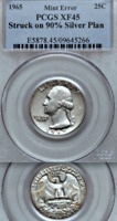 1965 PCGS XF SILVER TRANSITIONAL  BREEN 4416