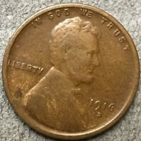1916 D LINCOLN WHEAT CENT PENNY - BETTER GRADE  FREE SHIP. A569