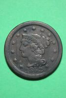 1852 BRAIDED HAIR LARGE CENT EXACT COIN PICTURED FLAT RATE SHIPPING OCE129