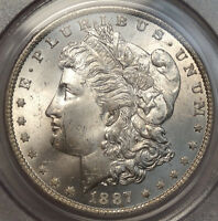 1887-O MORGAN DOLLAR SLABBED PCGS MINT STATE 64 ORIGINAL SILVER NEW ORLEANS MINT COIN