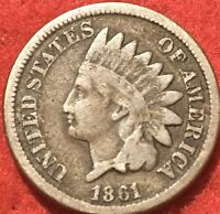 INDIAN HEAD CENT 1861