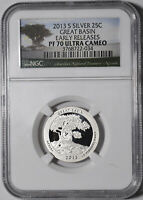 ATB SILVER QUARTER PROOF GREAT BASIN 2013 S EARLY RELEASES N
